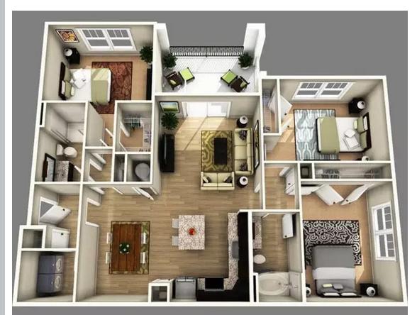 Denah-Rumah-3D-Minimalis-Modern-Terbaru-2021